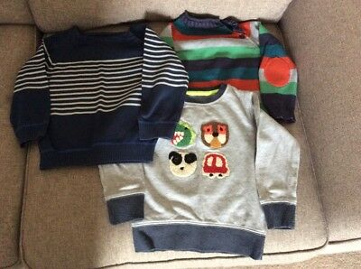 Three boys jumpers, Next and John Lewis, 18-24 months.