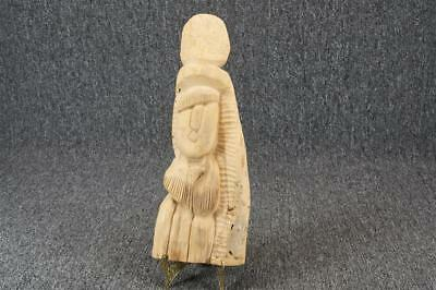 Vintage Wood Carving Woman Wall Hanging 13""