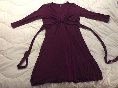 Seraphine Purple Knot Front Maternity Dress Size 12