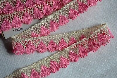 2.04_Yds_French_Antique_Hand_Crocheted_Lace_Trim_Made_In_France_100%_Cotton