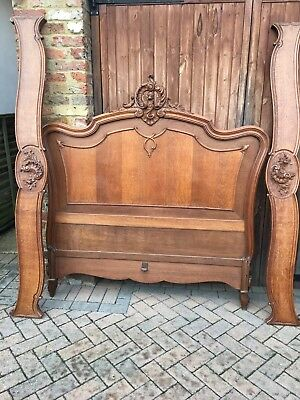 Antique Oak Rococo French Bed Frame Exceptional Quality