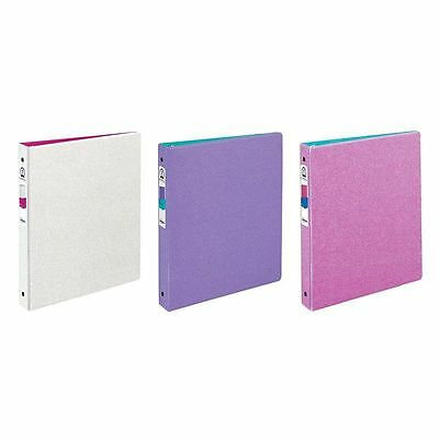 "(3) Avery Glitter Binder with 1"" Round Ring, 175-Sheet Capacity ~1 of Each Color"