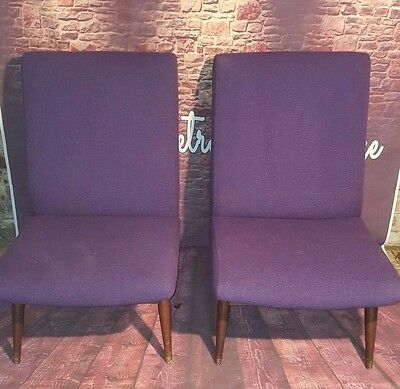 Vintage Retro Mid Century Arm 4 x Chair Seat Original Parker Knoll PK945 Purple