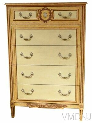 VMD1573 Directoire Style Baker Decorated High Chest