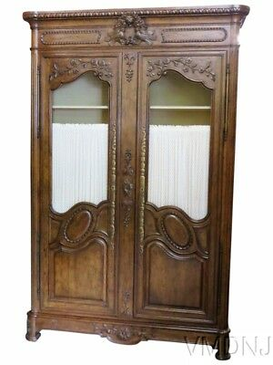 VMD 1436 Auffray Style Carved Walnut Armoire