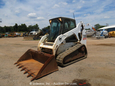 2012 Bobcat T190 Skid Steer Track Loader Cab A/C Heat Aux Hyd Digital Dash