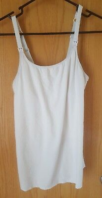 Gilligan O'Malley White Shelf Bra Nursing Camisole Tank Top Medium
