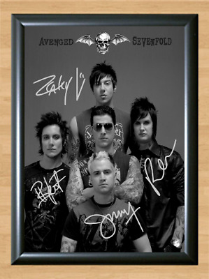 Avenged Sevenfold City Of Evil Signed Autographed A4 Photo Poster Memorabilia cd