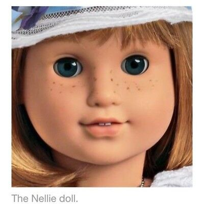 """AMERICAN GIRL NELLIE DOLL + BOOK Shamantha's friend NEW 18""""doll FAST SHIPPING"""