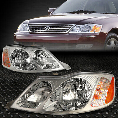 For 2000-2004 Toyota Avalon Pair Chrome Housing Amber Corner Headlight/lamp Set