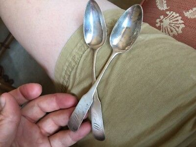 Rare Old! Coin Silver Spoons Probably Thomas Revere