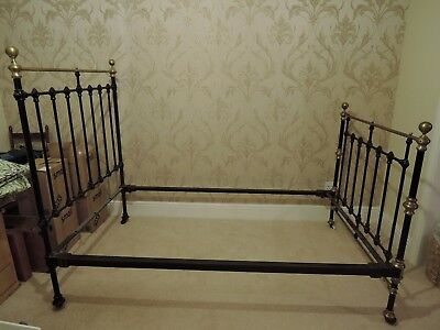 vintage brass and iron double bed
