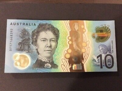 Australia Banknotes New $10 Dollars 2017 General Prefix Lowe Fraser Uncirculated