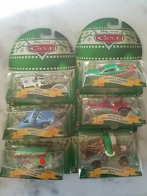Disney Pixar Cars Lot Of 6 Christmas including new HTF Sarge