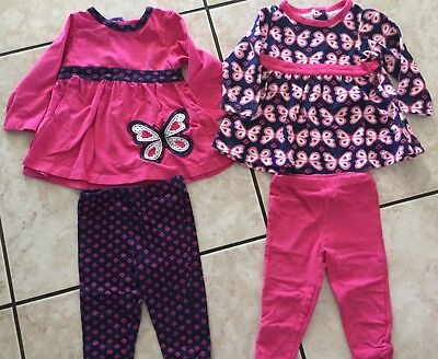 Baby Girl Little Me Lot With Butterflies Size 12 Months