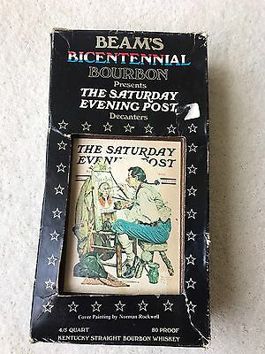 Vintage Saturday Evening Post Beam's Bicentennial Decanters - Empty In Box!!!!!