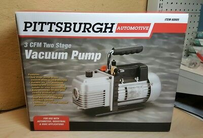 Pittsburgh 3 Cfm Two Stage Vacuum Pump Model 60805 , Free Ship