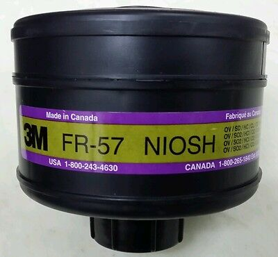 3M CBRN FR-57 NIOSH US MILITARY SPEC GAS MASK FILTER CARTRIDGE NBC NATO 40mm