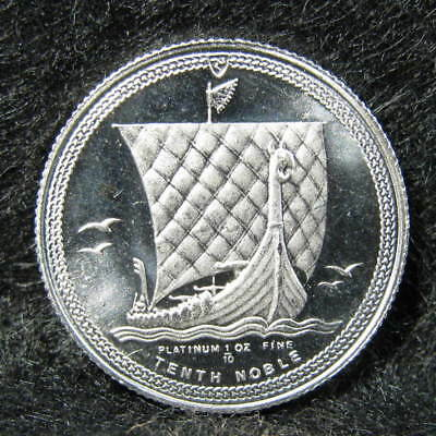 1985 Isle Of Man 1/10 Oz Platinum Noble World Coin Choice Uncirculated