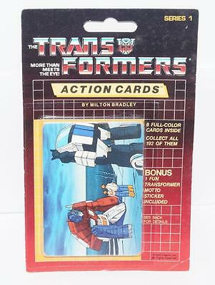 Optimus Prime Sealed Pack Card #126 Transformers Trading Action Cards 1985 G1