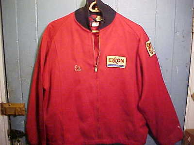 """1970s EXXON GAS Station ATTENDANTS JACKET w PATCHES """" ED"""""""