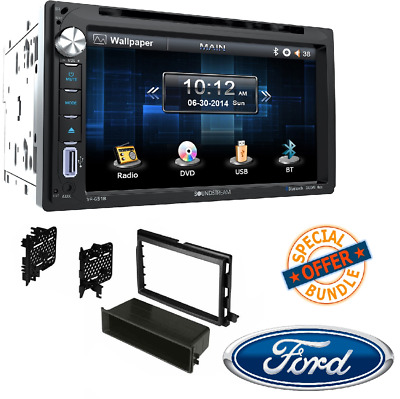 """Double Din DVD/CD/MP3 Player 6.5"""" LCD Display Bluetooth W/ INSTALLATION DASH KIT"""