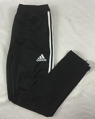 Adidas YOUTH Athletic TIR017 Climacool Soccer Sweat Pants Black White BS3690 L
