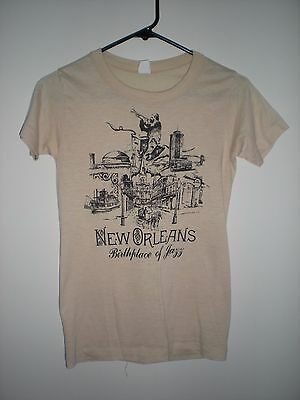 vintage t shirt New Orleans Birth Place of Jazz small
