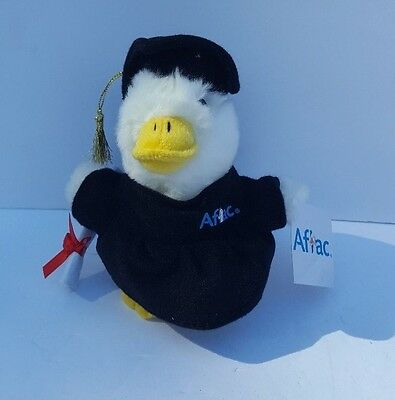 Aflac Plush Talking Duck  Graduate Sounds Works With Tags  S1