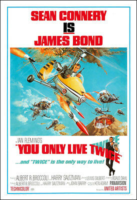 You Only Live Twice Movie Poster Print - 1967 - Action - 1 Sheet Artwork - 007