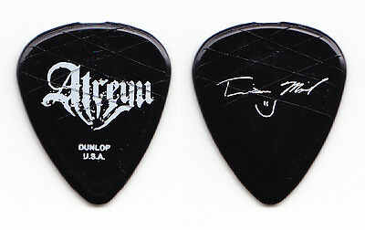 Atreyu Travis Miguel Signature Concert-Used Black Guitar Pick - 2006 Tour