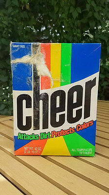 Vintage CHEER Laundry Detergent Soap Box - Full but damaged
