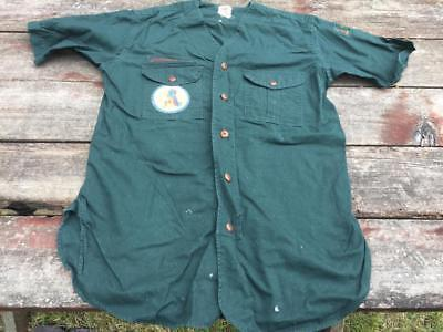 Old Boy Scouts Explorers Green Uniform Shirt National Jamboree Valley Forge 1950