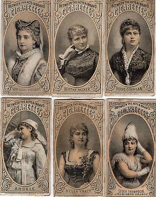 1800's Victorian - Between The Acts & Bravo Cigarettes Actress - Trade Card Lot