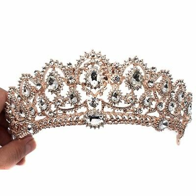Bridal Crystal Tiara Crowns Pageant Wedding Peacock Headbands Hair Jewelry