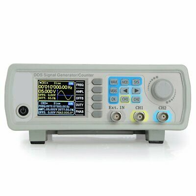 60MHz DDS Dual-Channel Signal Generator Source Frequency Meter Counter 200MSa/s