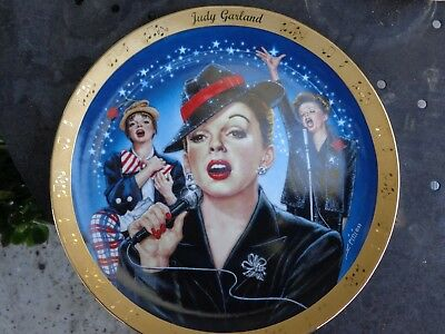Judy Garland 23kt Gold Border Danbury Mint Collector Plate Limited Ed COA