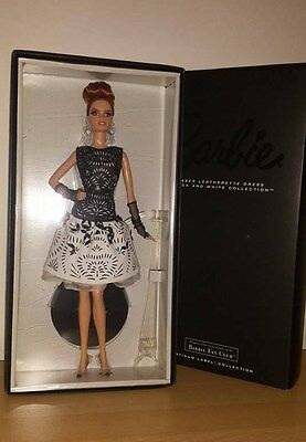 2014 Barbie Laser Leatherette Dress Doll~Bfc Exclusive Platinum Label~New