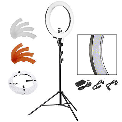 Neewer 240 Stk. LED SMD dimmbare Ring Video Licht + 260 cm Licht Stand