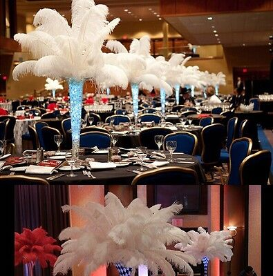 6-8inch/15-20cm Wholesale 10pcs High Quality Natural WHITE OSTRICH FEATHERS New