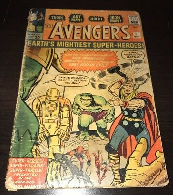 Avengers #1 1st App & Origin Marvel 1963 Silver Age KEY Comic Infinity War Movie