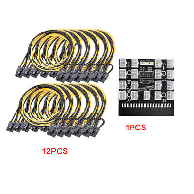 DPS-1200FB A Power Supply Breakout Adapter Board+12 8P Cable for Ethereum Mining