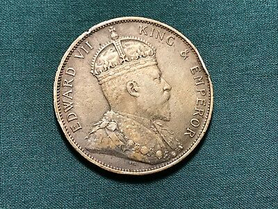 1904 Edward VII Hong Kong 50 Cents Silver 100k Low Mintage Key Date