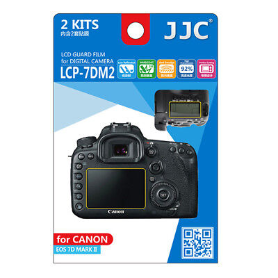 JJC 2x LCD Screen Protector Guard Top & Back for Canon EOS 7D Mark II Camera