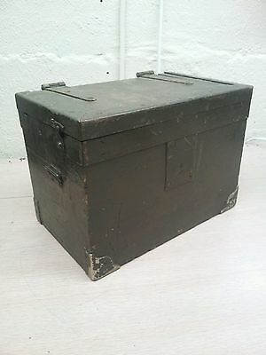 antique ww2,military wooden box military