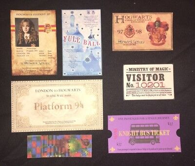 For Your Harry Potter Hermione Halloween Costume Hogwarts ID Express Ticket Prop