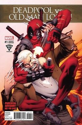 Deadpool Vs Old Man Logan 1 Stevens Fried Pie Variant Wolverine Nm