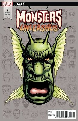 MONSTERS UNLEASHED 7 MIKE McKONE HEADSHOT VARIANT MARVEL LEGACY NM