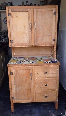 1950's PINE DRESSER WITH TILED TOP