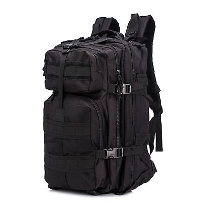 Unisex Travel Tactical Backpack Outdoor Military Assault Rucksack Hike Bag Black